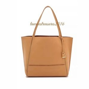 Botkier Exposed Zip Soho Tote Shoulder Bag LEATHER
